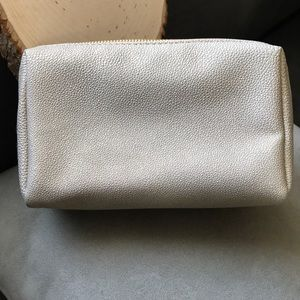BARE MINERALS Gold Faux Pebble Leather Bag
